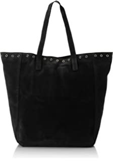 Pcileana Suede Shopper, Womens Shoulder Bag, Black, 15x44x40 cm (B x H T) Pieces