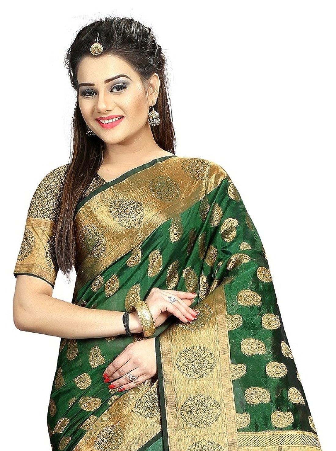 e5b8b5375a5b7 Hinayat Fashion Women s Banarasi Silk Saree