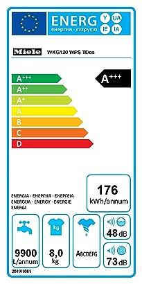 Miele WKG 130 WPS - Lavadora (Frente, 8 kg, 1600 RPM), color ...