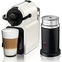 Krups Nespresso XN1011 Inissia Bundle胶囊咖啡机 附带Aeroccino 3奶泡机,白色