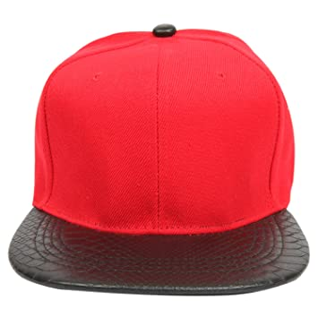 7df8bb5dc28 Buy ILU Men s Cotton Snapback Hiphop Cap Red Online at Low Prices in India  - Amazon.in