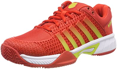 K-Swiss Performance Express Light HB, Chaussures de Tennis Femme, Rot (Fiesta/White/Neon Citron 813m), 38 EU