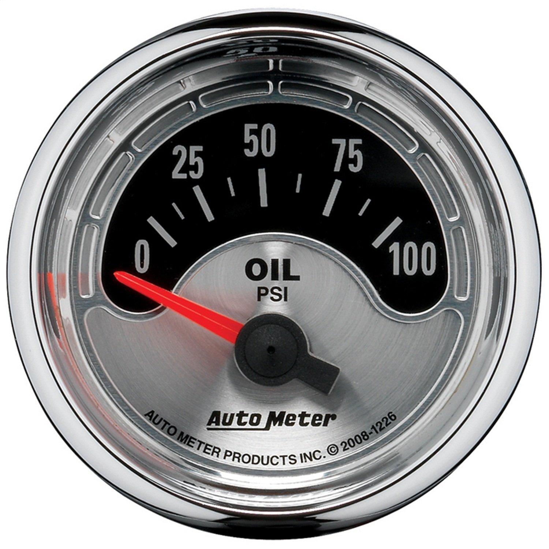 Auto Meter 1226 American Muscle 2-1/16' 0-100 PSI Short Sweep Electric Oil Pressure Gauge