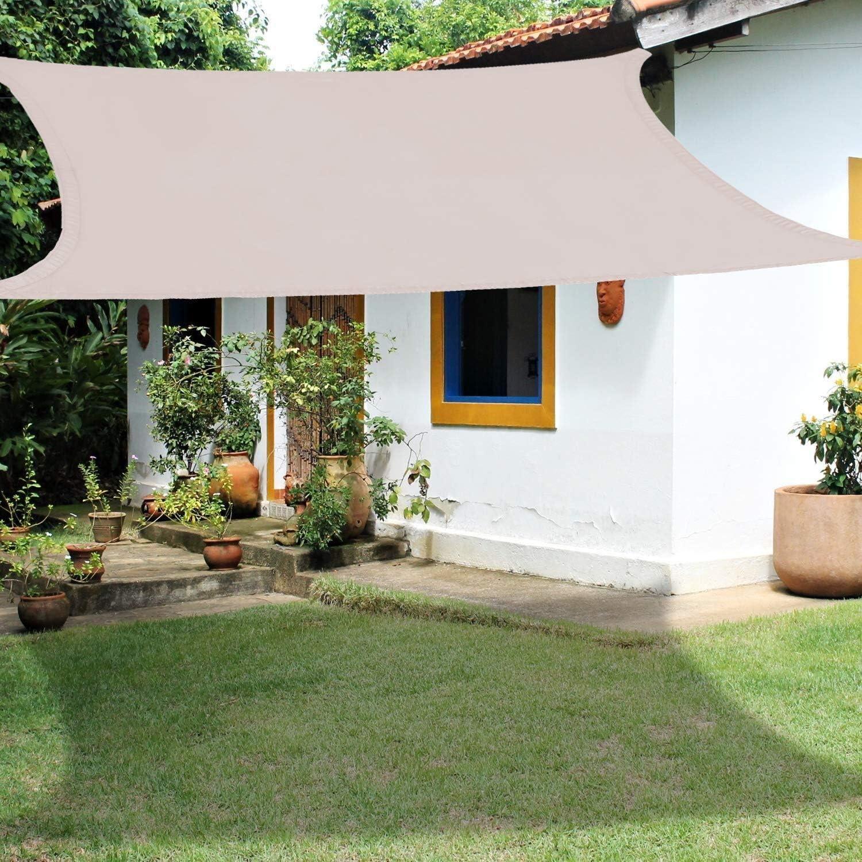 CAIJUN Velas De Sombra Malla Sombra Rectángulo Protector Solar 95 ...