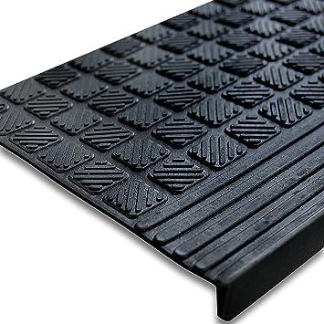 set de 5 tapis descalier antidrapant etm en caoutchouc marchette extrieur rsistant - Antiderapant Escalier Exterieur