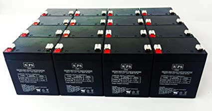 16 Pack 12v 5Ah APC Smart-UPS RT 3000 VA 120V SURTA3000XL UPS Replacement Battery SPS Brand