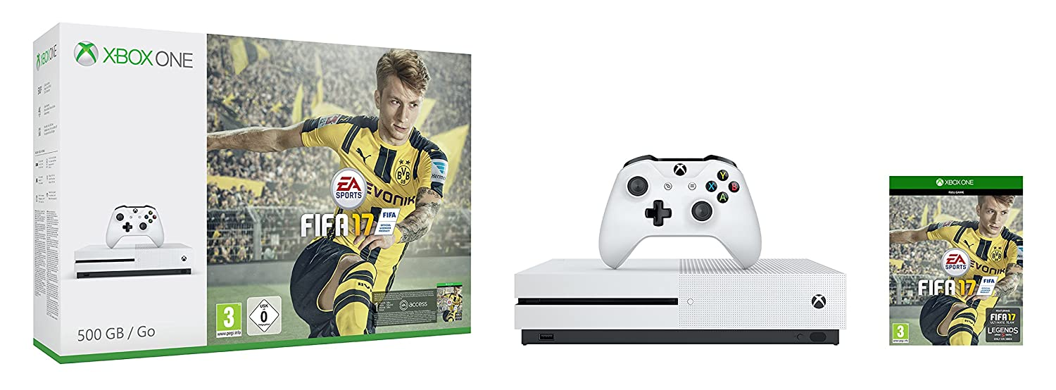 Xbox one s fifa 17 console bundle 500gb amazon co uk pc video games