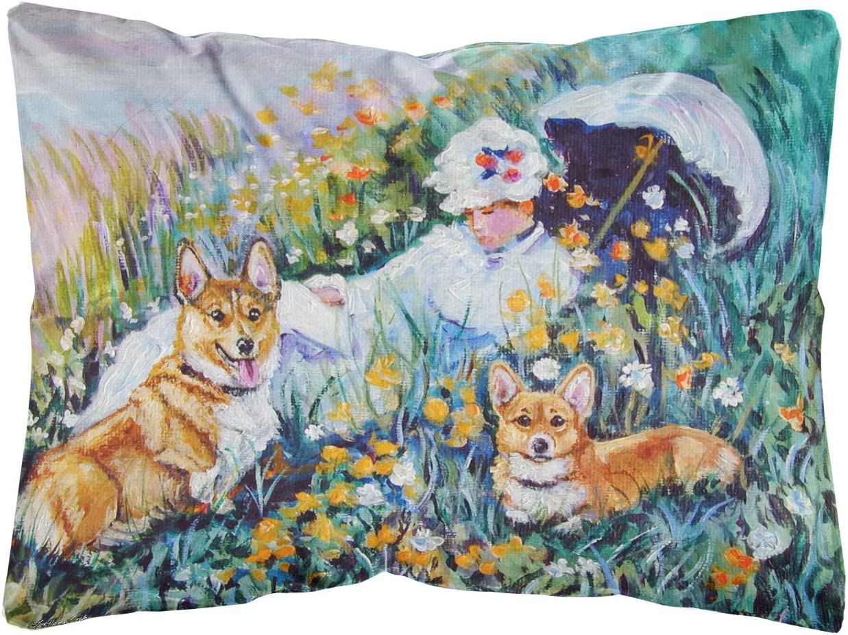 Caroline s Treasures 7324PW1216 Corgi Classics Fabric Decorative Pillow, 12H x16W, Multicolor