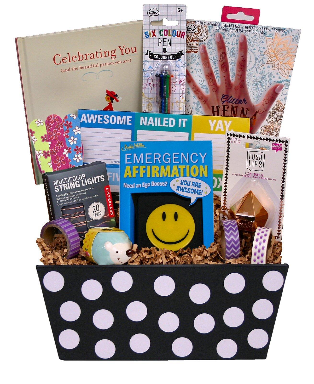 Beyond Bookmarks Celebrating You Gift Basket