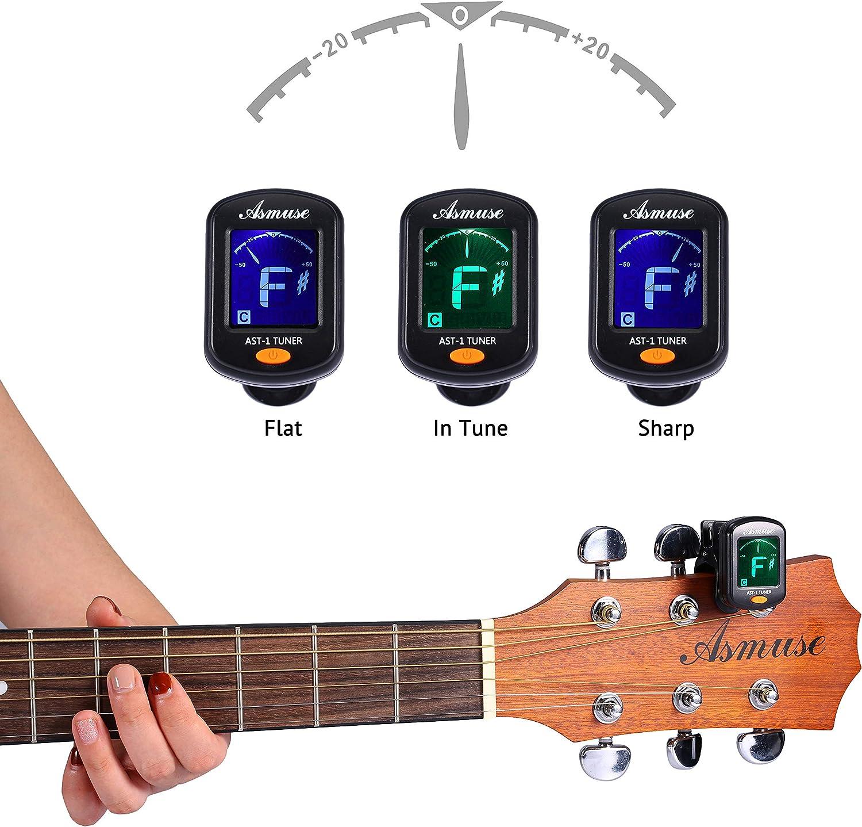Asmuse Afinador de Guitarra Guitar Tuner Sintonizador de Cromático ...