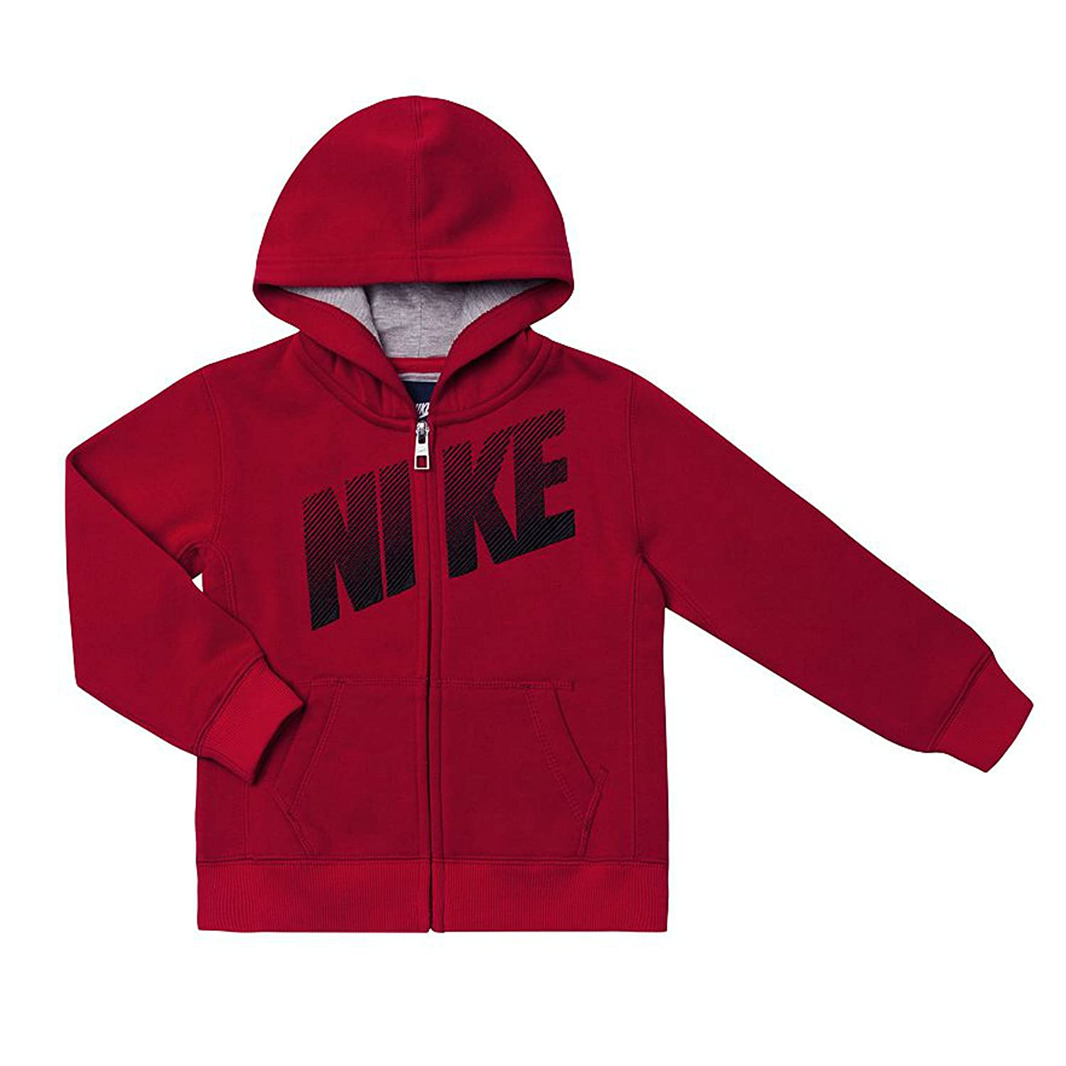 7ae73db41c57 Stay warm and comfortable with this boys  Nike full-zip hoodie. Product  Features  Nike graphic Full-zip front Long ...