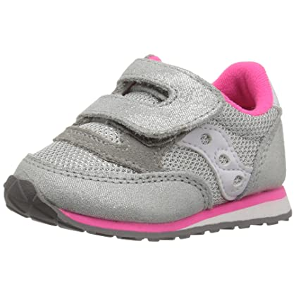 Saucony Girls Jazz Hook and Loop Sneaker (Toddler/Little Kid),Paradise Pink,5.5 M US Toddler