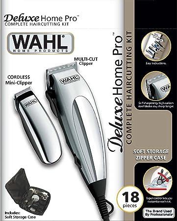 Wahl 79305-1316 HomePro Vogue Deluxe - Cortapelos con accesprios, con cable, battery-powered, plateado
