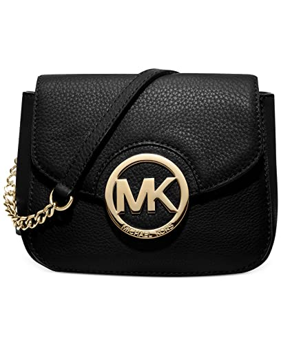 michael michael kors fulton small crossbody in black handbags rh amazon com