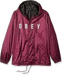 Amazon.com: Obey Mens Russet Parka Windbreaker Jacket: Clothing