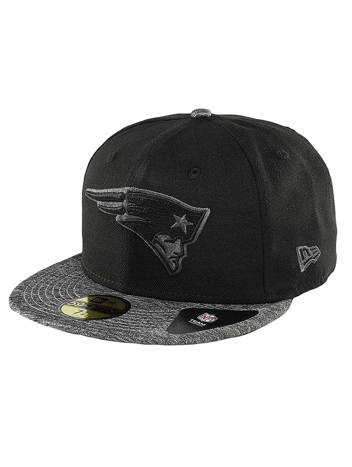 New Era Men Caps Fitted Cap Grey Collection New England Patriots 59Fifty   Amazon.co.uk  Clothing 49a6761e79ca
