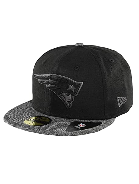 new concept 3db45 43d29 New Era Men Caps Fitted Cap Grey Collection England Patriots 59Fifty Black 7  1