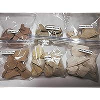 Edible clay, Turkestan white clay, Turkestan gray clay, Turkestan brown clay, White Aktobe clay, Ural clay, Uzbek pink…