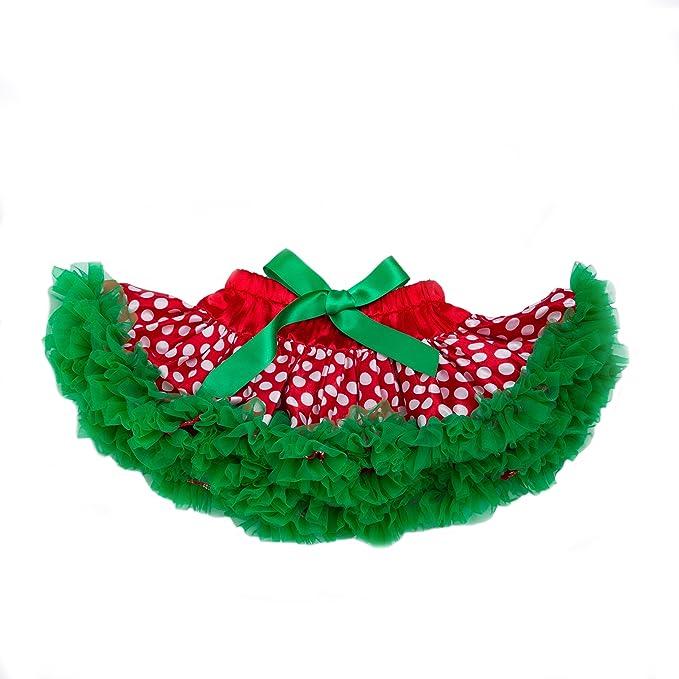 DecStore Baby Girls Mein erster Weihnachtskost/üm Party Kleid Tutu Kleidung 4PCS Set