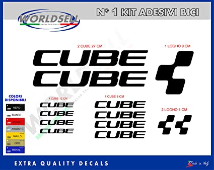 Ecoshirt AJ-K1JQ-SMOC Pegatinas Cube F177 Vinilo Adesivi Decal Aufkleber Клей MTB Stickers Bike Negro