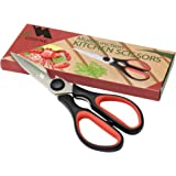 Heavy Duty Kitchen Shears - Come Apart Stainless Steel Blades, Comfort Rubber Grip Handles with Bottle Opener and Nutcracker - Multipurpose Scissors for Chicken, Meat Fish and Herbs - Acodine