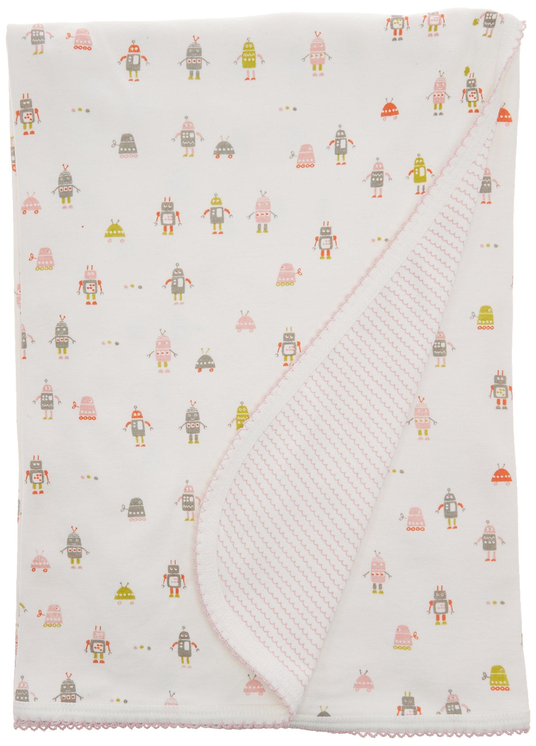 Auggie Robot March Pink Baby Blanket, Pink