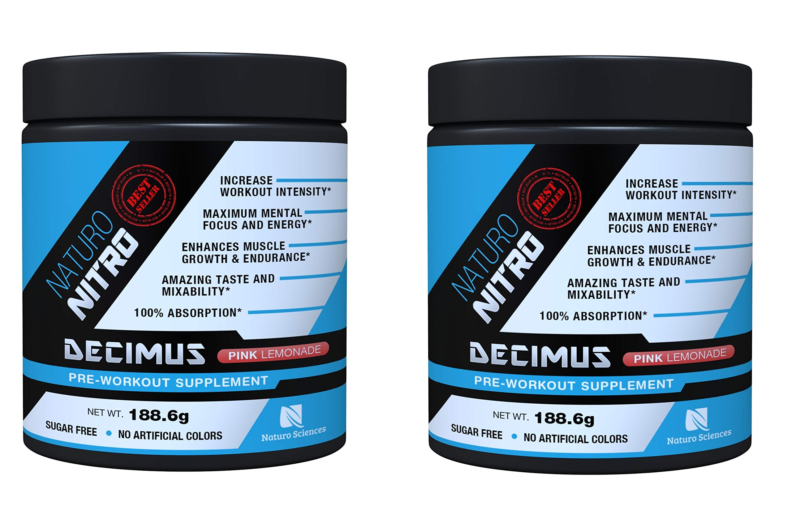 Decimus Pre-Workout | Best Pre Workout Supplement Powder | Naturo Sciences | 28 Servings, Pink Lemonade (2 Pack)
