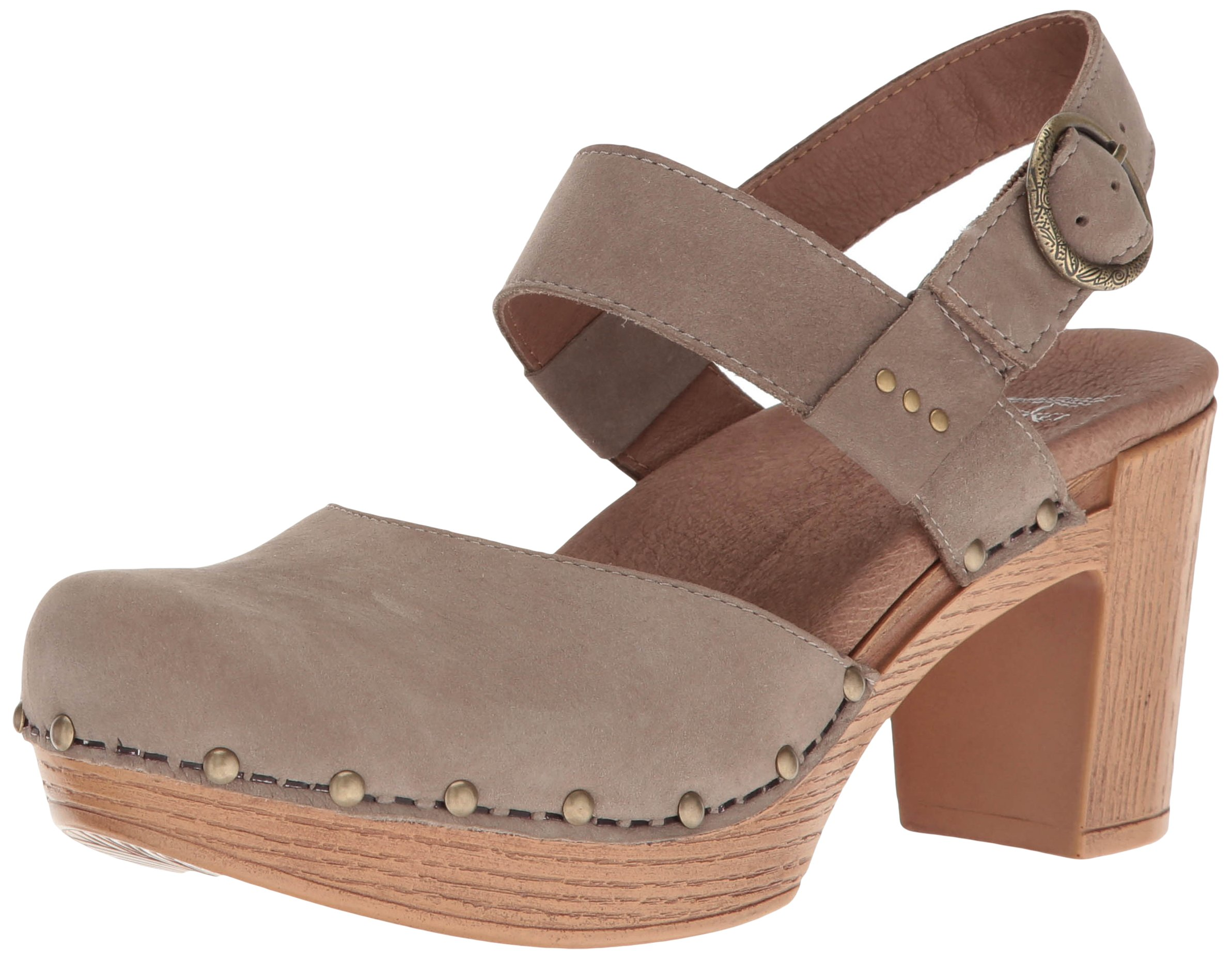 Dansko Women's Dotty Heeled Sandal, Taupe Milled Nubuck, 40 EU/9.5-10 M US