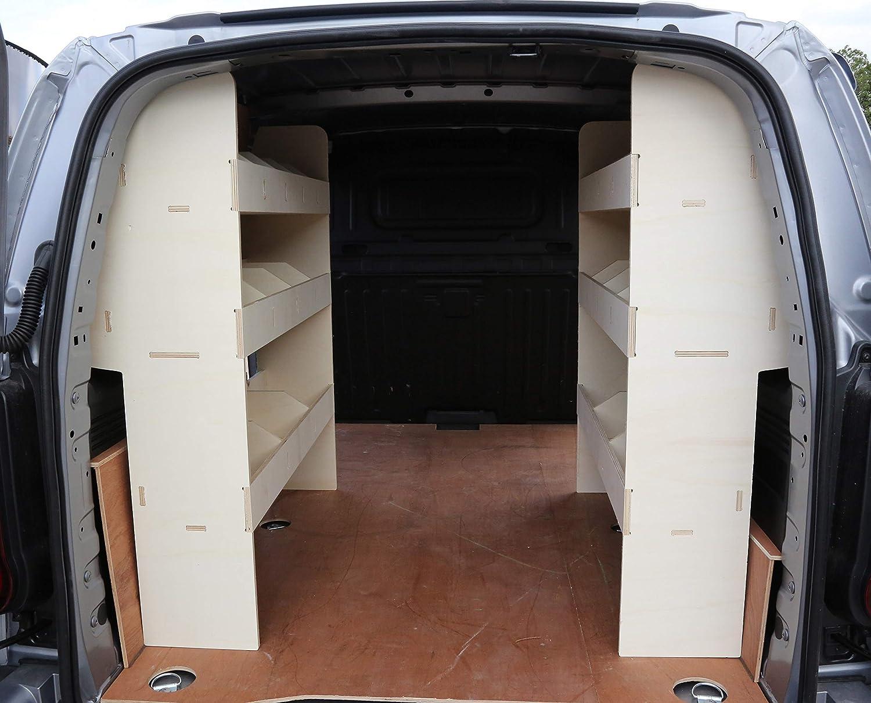 contrachapado, ligero, sistema de almacenamiento, estante para herramientas Estantes frontales en /ángulo para furgonetas 2019 OS VAUXHALL Vivaro SWB 2015