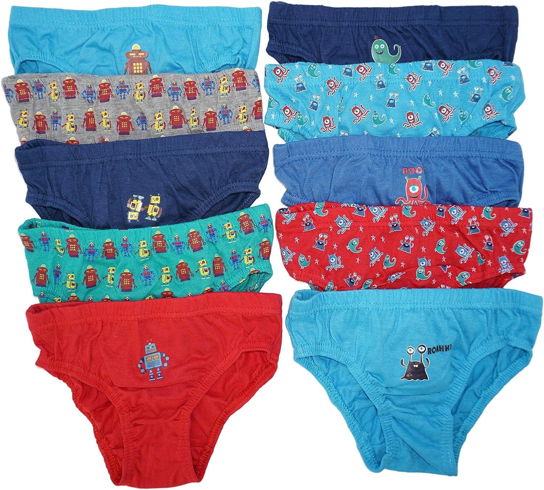 Pack de 10 calzoncillos slips para niños, talla 98-128. multicolor ...