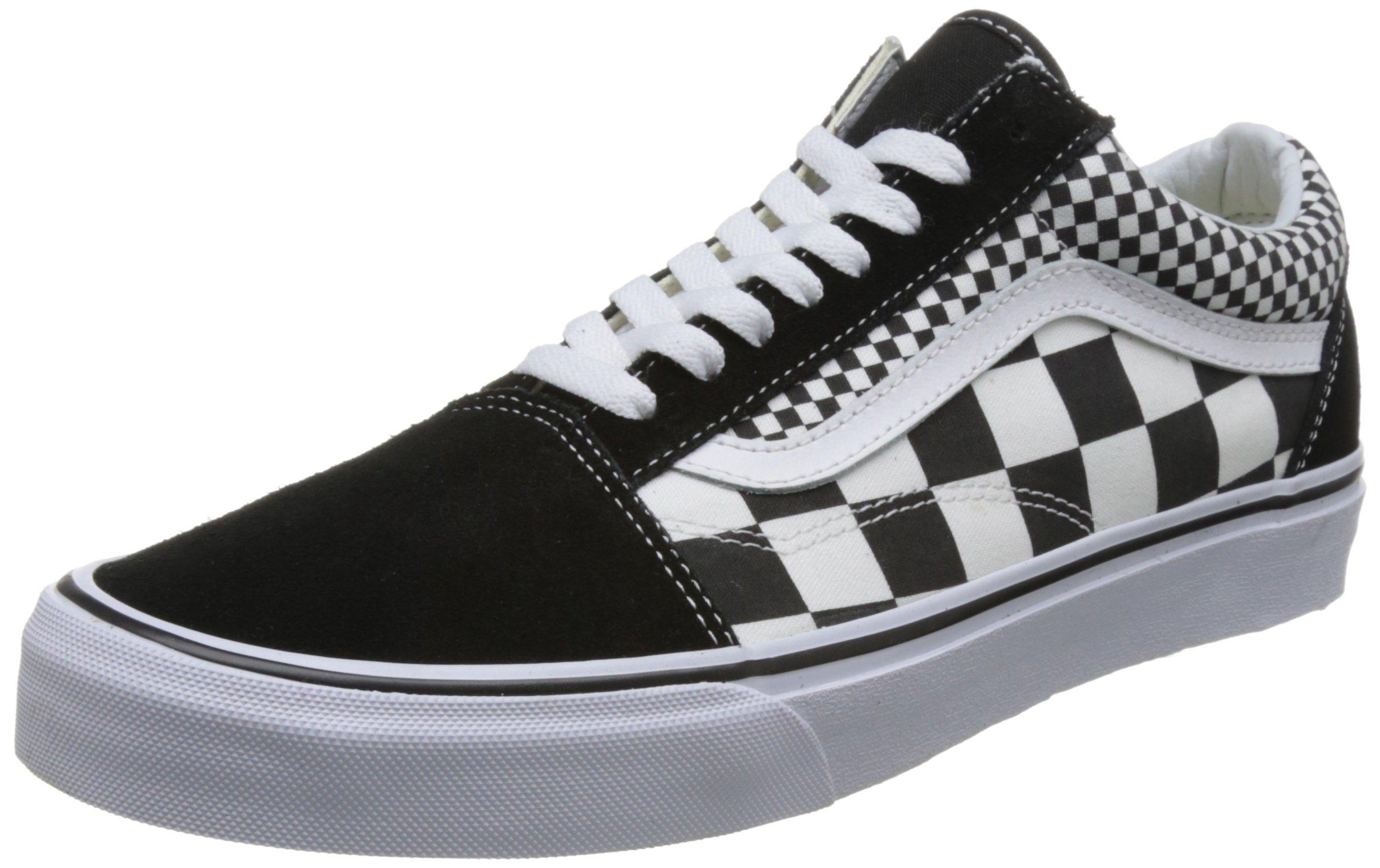 5074689504352 Vans Unisex Adults' Old Skool Trainers, Black ((Mix Checker) Black/True  White Q9B), 11.5 US Womens/10 US Men