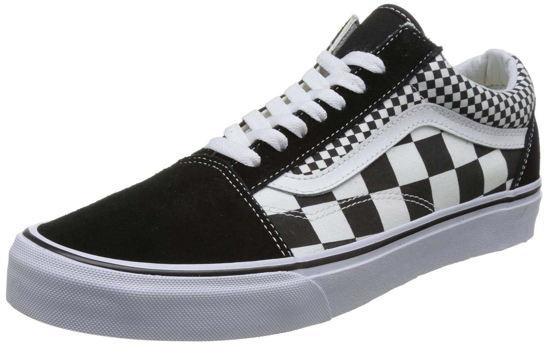 Vans Old Skool Unisex Adults' Low-Top Trainers B074HC7MQ9 12 D(M) US|(Mix Checker) Black/True White