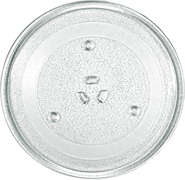 11.25 Microwave Glass Plate Microwave Glass Turntable Replacement,Equivalent to DE63-00536A WB49X10097 WB49x10224 Compatible with ge and samsung model ME16h702SES and PEM31DM4WW
