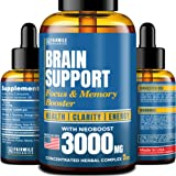 Brain Supplement for Focus, Energy, Memory & Clarity - Made in USA - Natural Nootropic Brain Booster with Ginkgo Biloba…