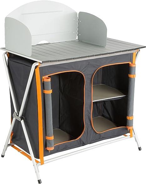 Ultrasport Cocina de camping, armario plegable con 3 ...