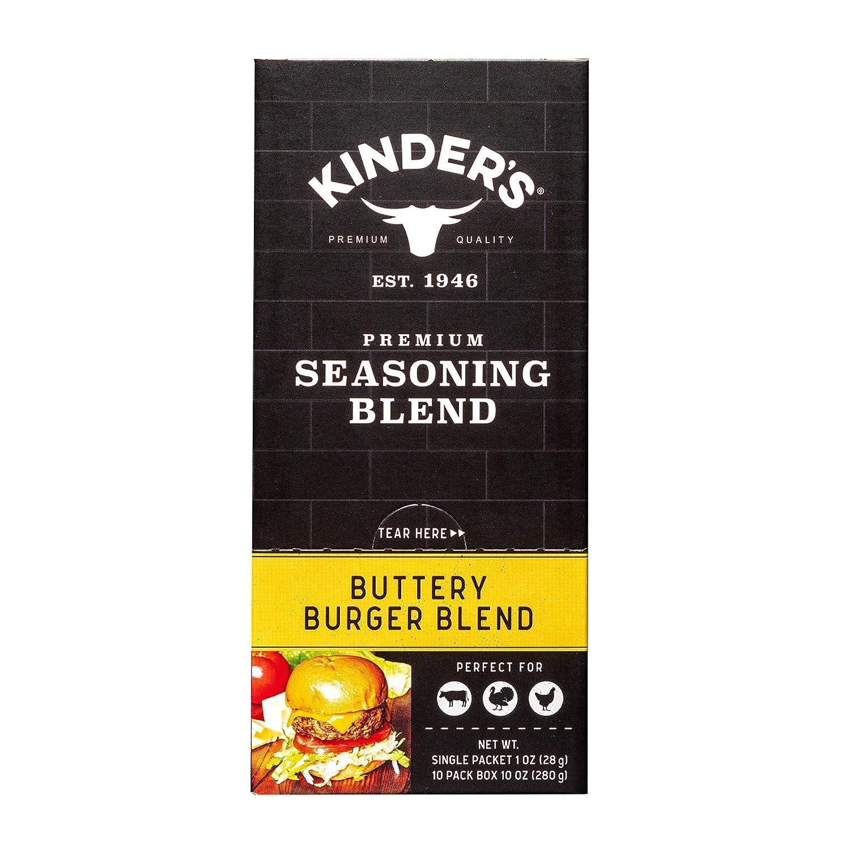 Kinder's Buttery Burger Blend Seasoning, Gluten Free, 1oz Seasoning Mix Packets, 10 Count