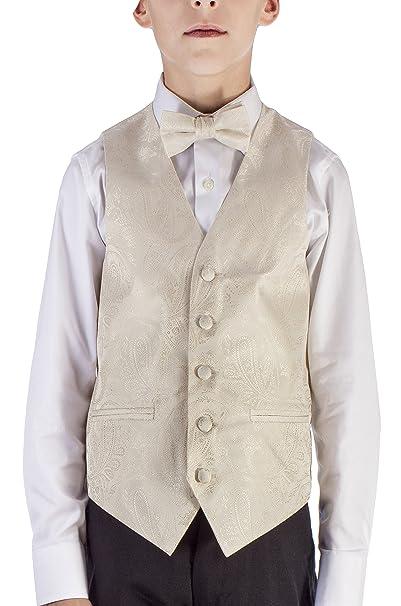 Alberto Cardinali niños vestido chaleco Paisley 4pc Set chaleco ...