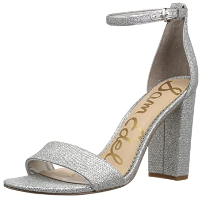 e606bc753 Image Unavailable. Image not available for. Color: Sam Edelman Women's Yaro  Heeled Sandal Soft Silver Glam mesh 7.5 M US