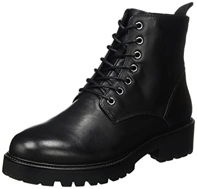 e01eb02461 Vagabond Womens Kenova Combat Leather Military Winter Ankle Black Boot -  Black - 6