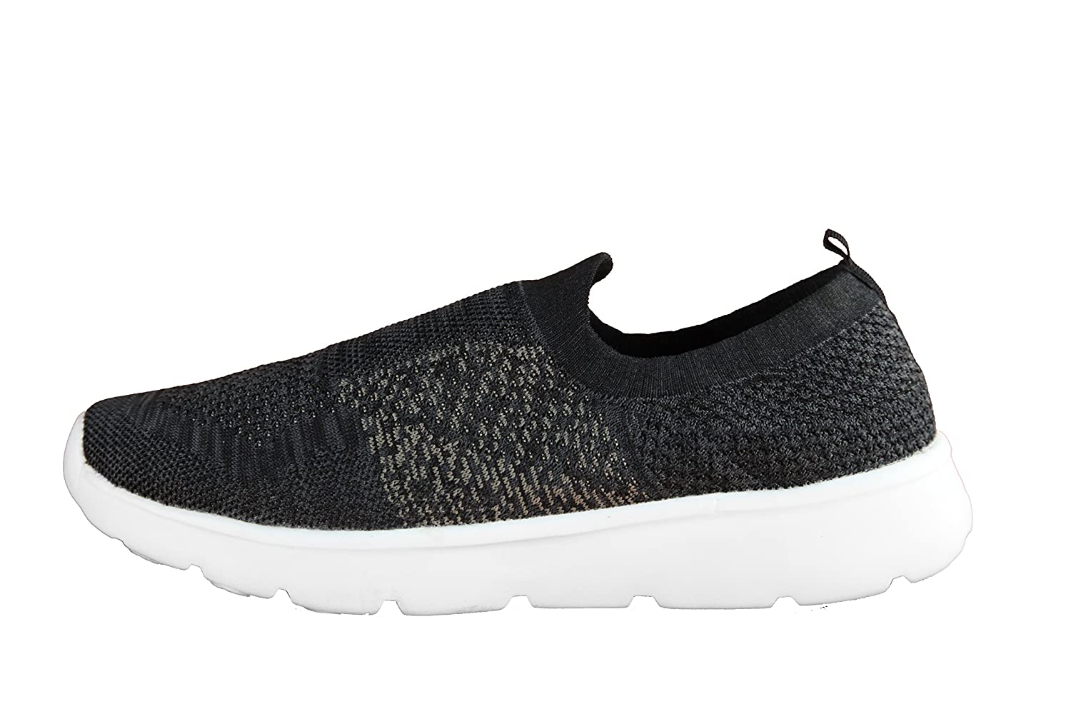 Silverletic Odorless Germ-free breathable shoes unisex light weight comfortable slip-on walking sneaker B0757HFZG6 10 D(M) US|Black