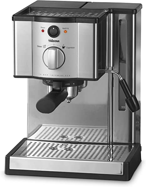 Tristar KZ-2248 Máquina espresso 1.2L 2tazas Negro, Acero ...