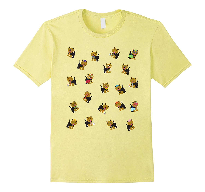 Yorkie Dog T-Shirt - Yorkies Everywhere Colorful Tee-RT