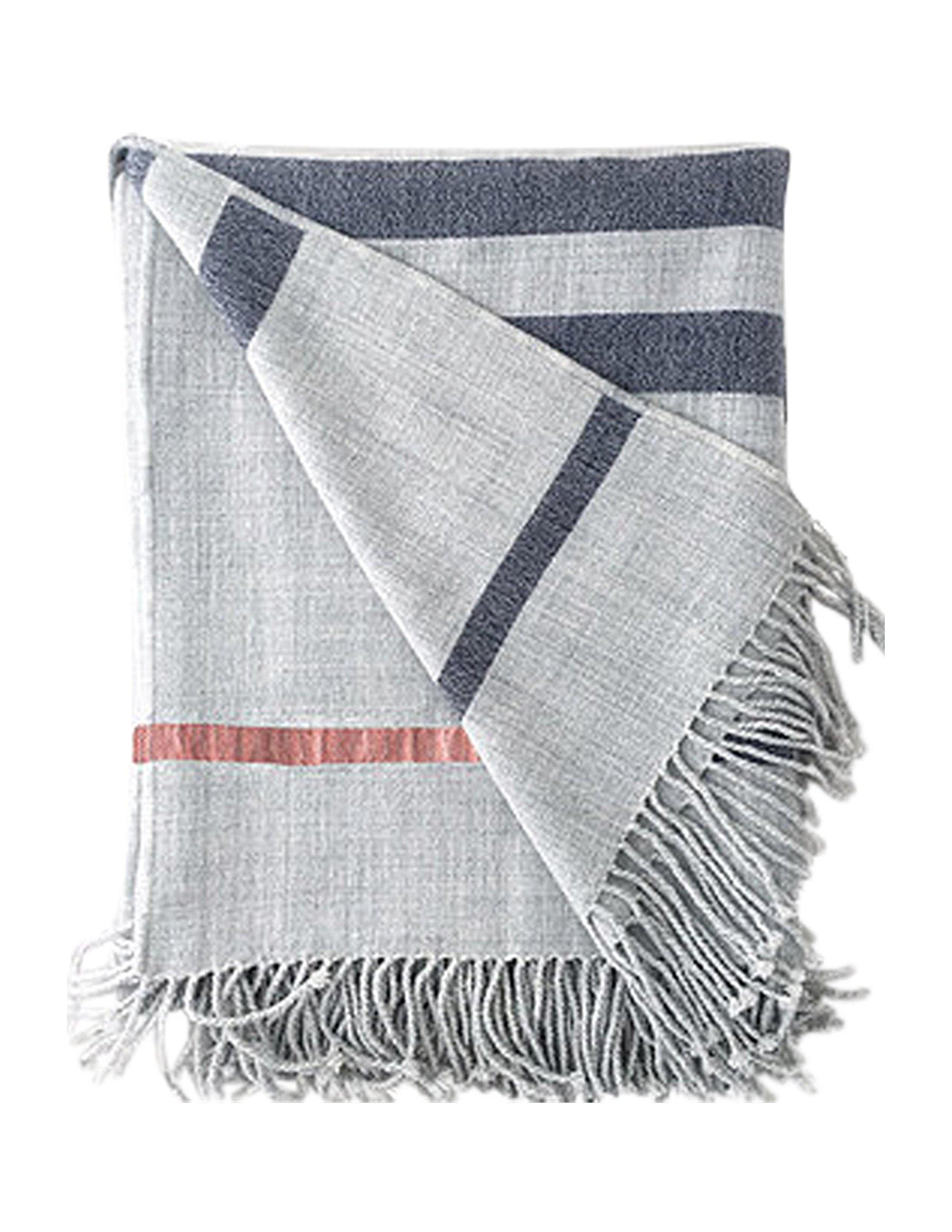 Travel Wrap Fog Grey Stripes (with pockets)