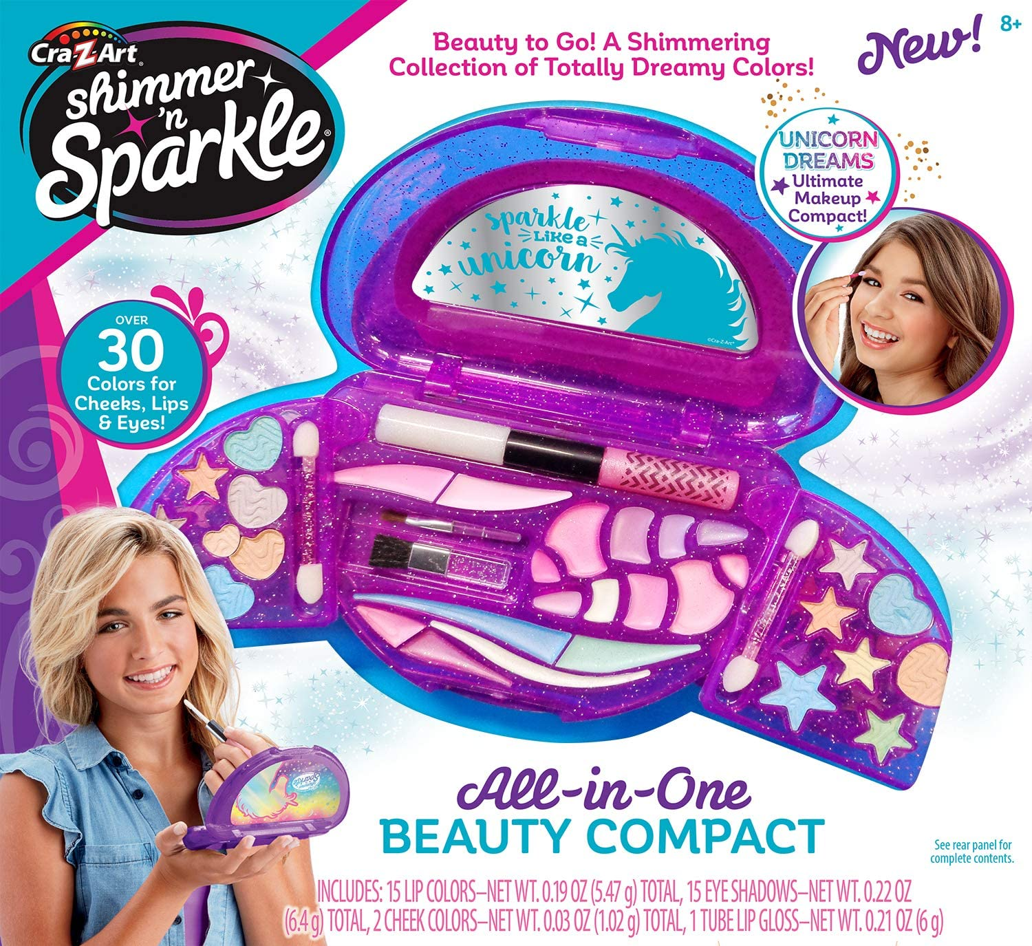 Amazon Com Cra Z Art Shimmer N Sparkle All In One Beauty Compact Toys Games