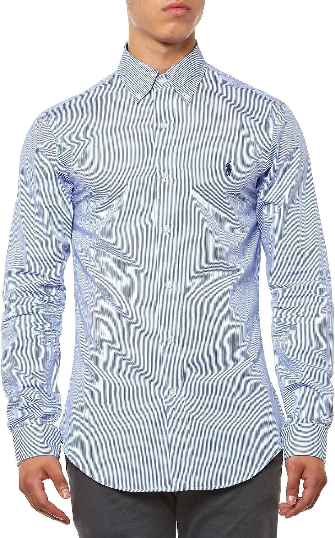 Ralph Lauren LS Slim FIT BD, Camisa Casual para Hombre, Multicolor ...
