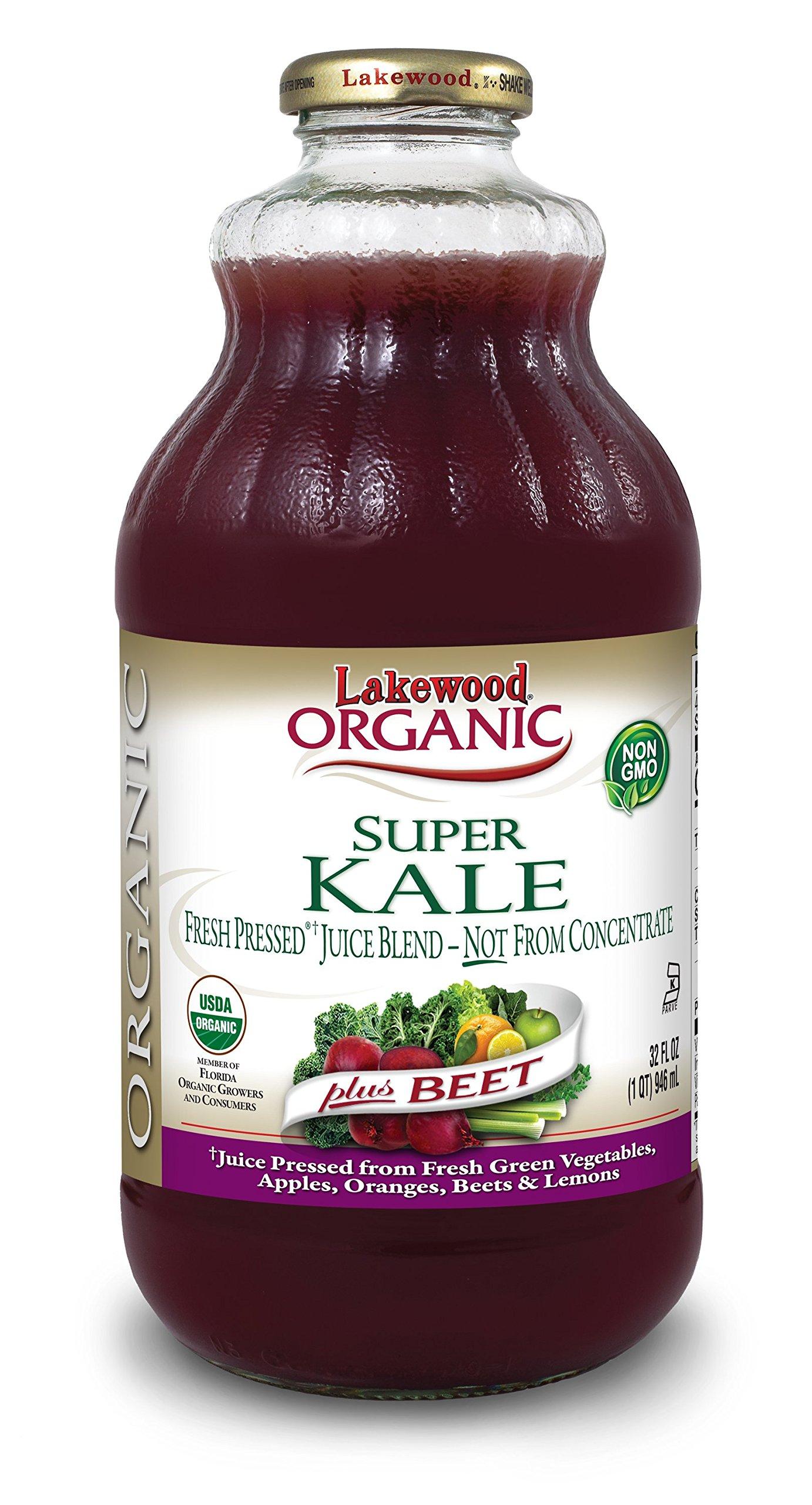 Lakewood Organic Super Kale Plus Beet, 32 Ounce (Pack of 6)