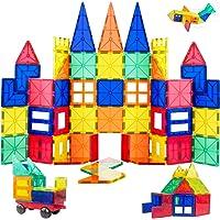 ORRENTE Magnetic Blocks, Magnetic Building Blocks Set for Boys/Girls, Magnetic Tiles Educational STEM Toys for Kids/Toddlers, 60 Piece