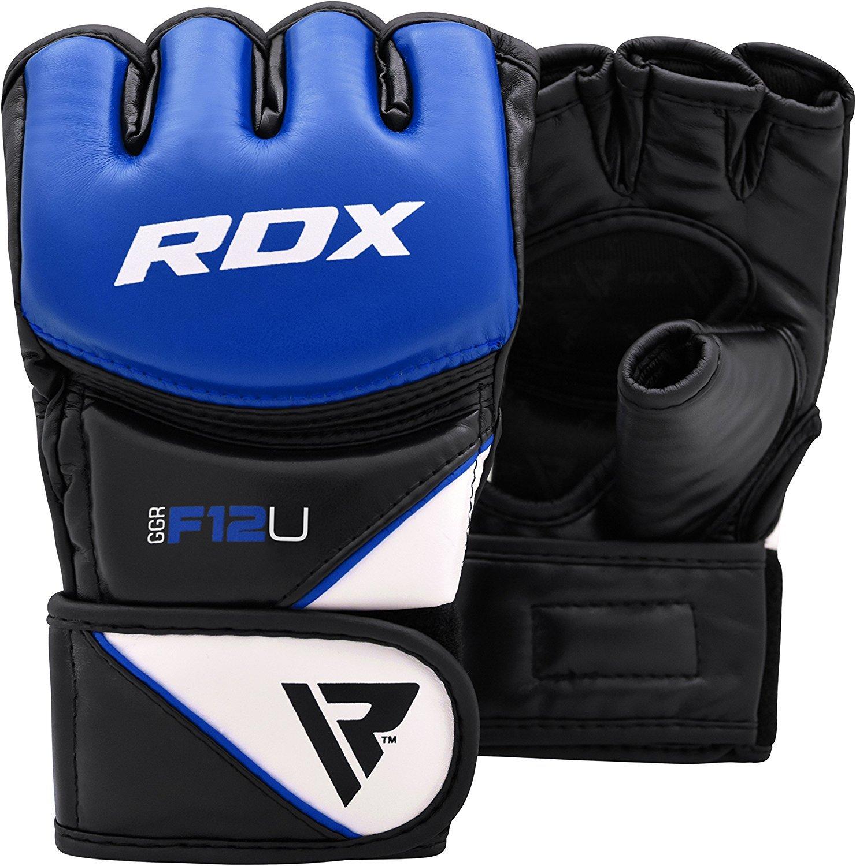 RDX Gants MMA Maya Hide Cuir Entrainement Art Martiaux Sac De Frappe Combat Sparring Kickboxing