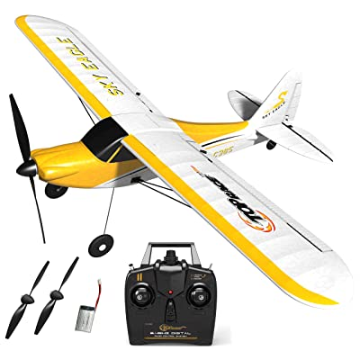 Top Race Rc Plane 4 Channel Remote Control Airplane Ready to Fly Rc Planes for Adults, Stunt Flying Upside Down, Easy & Ready to Fly, Great Gift Toy for Adults or Advanced Kids TR-C385: Toys & Games