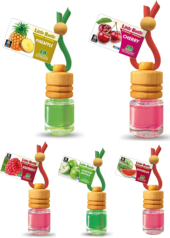 Ld 5 Stück Elegante Duftflakons Fürs Auto Autoduft Lufterfrischer Früchte Mix Ananas Apfel Himbeere Kirsche Wassermelone Auto